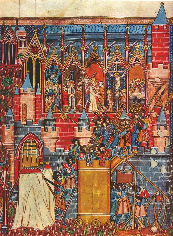 Het beleg van Jeruzalem in 1099 (beeld:wikipedia)