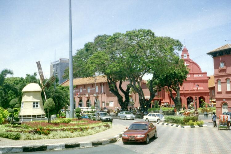 Windmolen op het Hollandse plein in Malacca