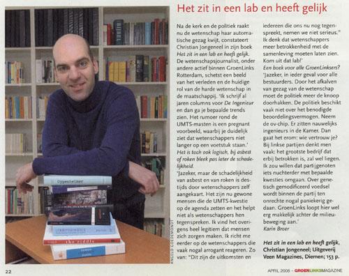 Artikel GroenLinks Magazine