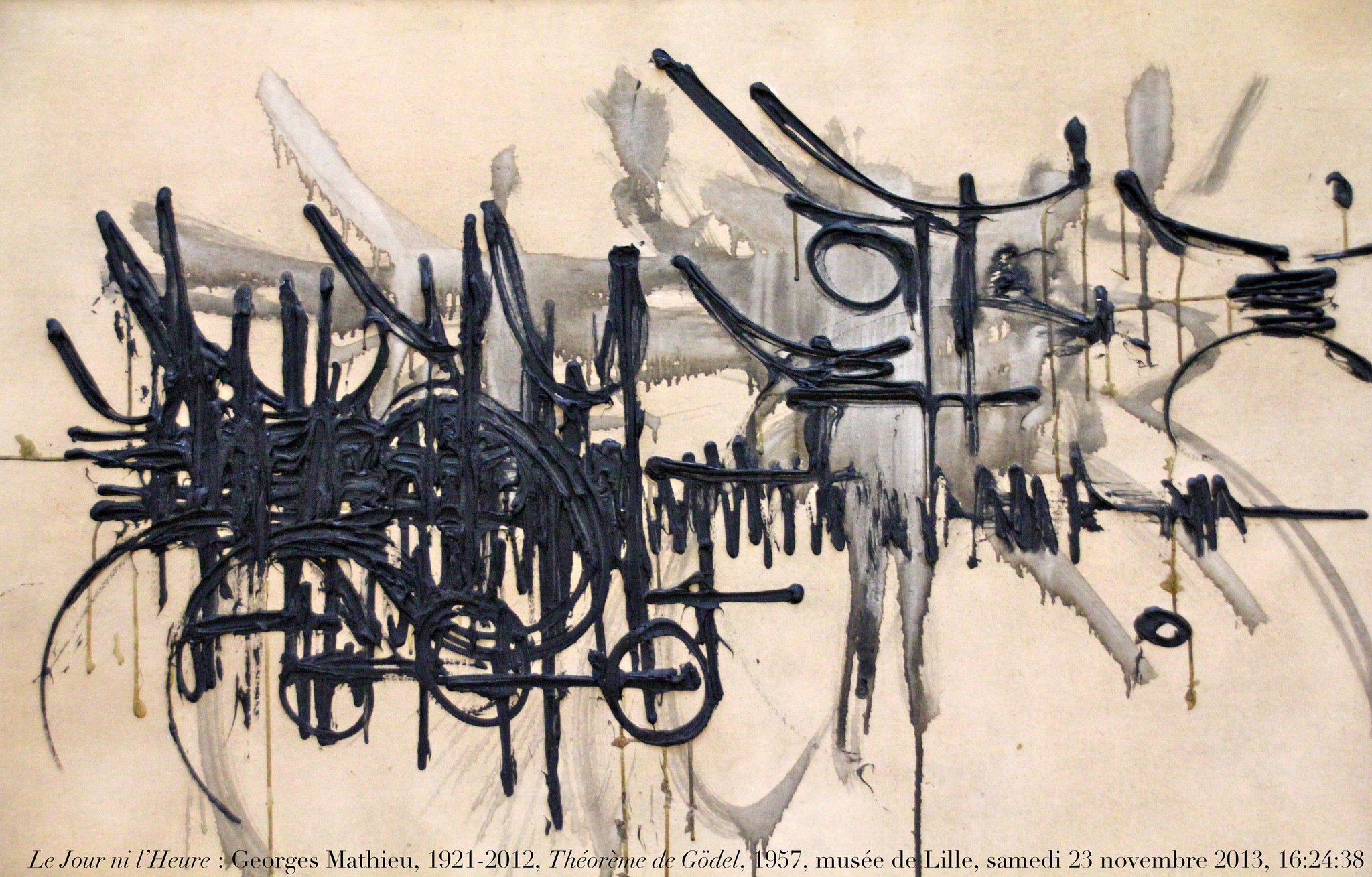 Gödel's Theorem visualised by Georges Mathieu (photo:flickr/renaud-camus)