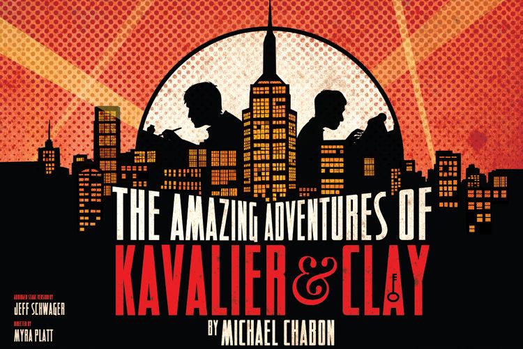 Affiche van een toneeluitvoering van Kavalier en Clay
