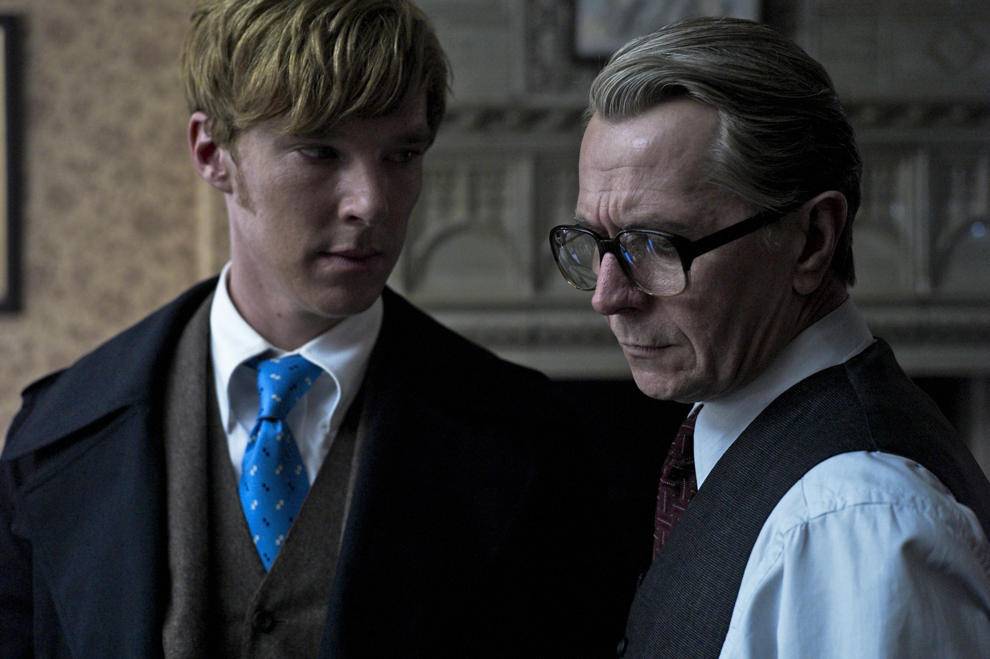Benedict Cumberbatch en Gary Oldman in Tinker Tailor Soldier Spy