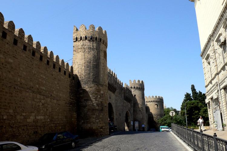 Azerbeidzjan, stadsmuur van Baku