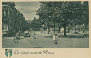 Mathenesserlaan, 1950 (collectie Gemeentearchief Rotterdam)