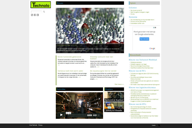Technolo homepage