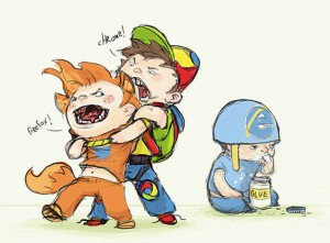 Drie browsers (credit onbekend)