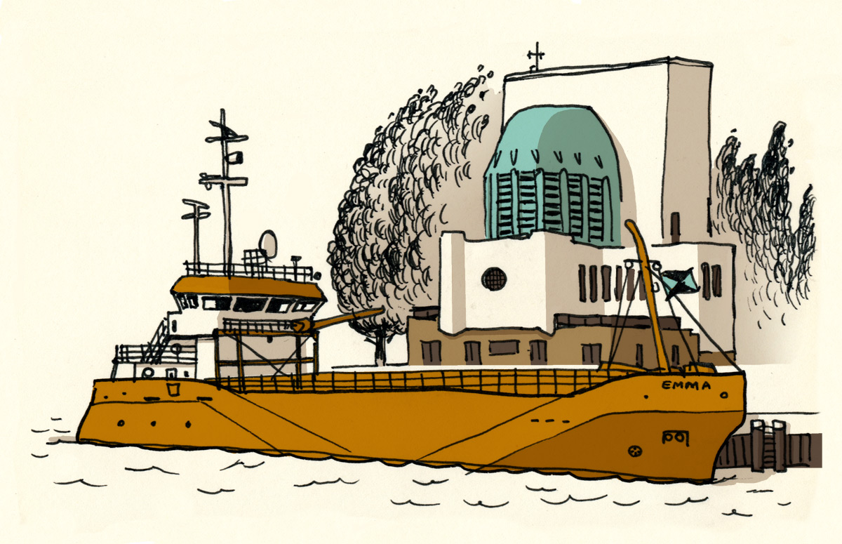 Emma en het ventilatiegebouw door Marc Kolle op Ik Rotterdam