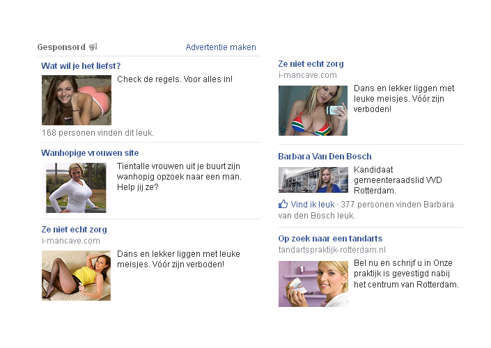 Zomaar wat Facebook advertenties