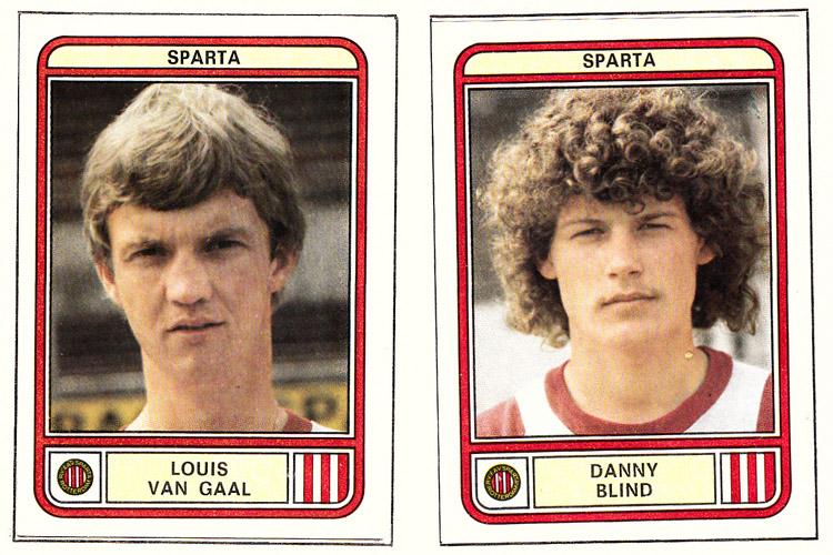 Louis van Gaal en Danny Blind in Sparta-tenue anno 1980 (plaatje: Panini)