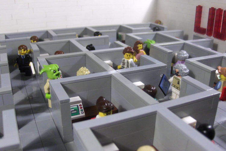 Are cubicles really a good way to organize work? (photo:flickr/ludgonianindustrialunion)