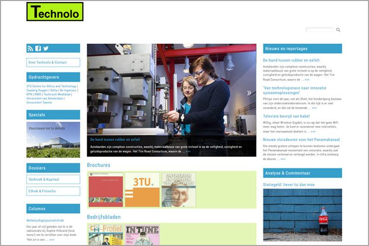 Screenshot van technolo.nl