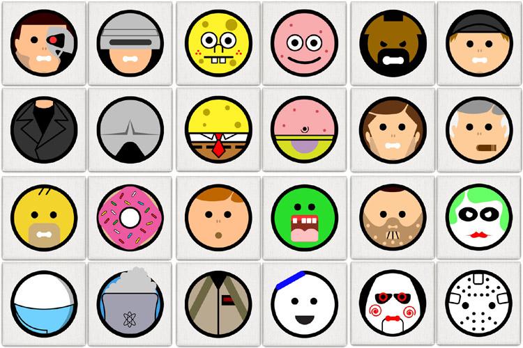Film- en televisie-ikonen tot hun essentie teruggebracht door Andy Awesome