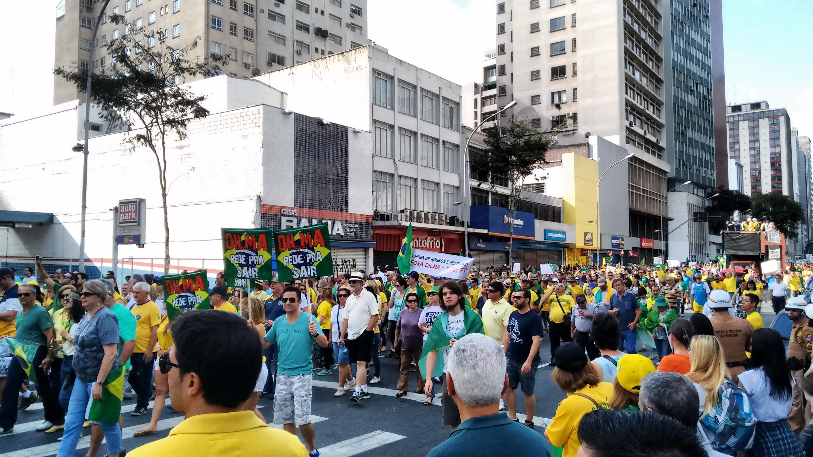 Demonstratie in Curitiba