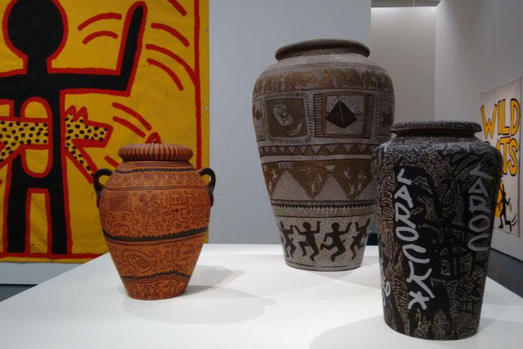 Werk van Keith Haring in de Kunsthal