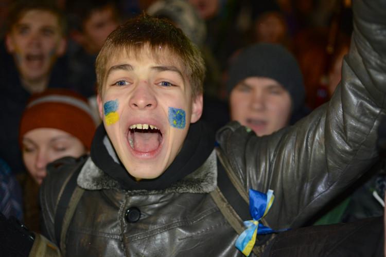 Pro-EU demonstratie in Kiev (foto:flickr/Ivan Bandura)