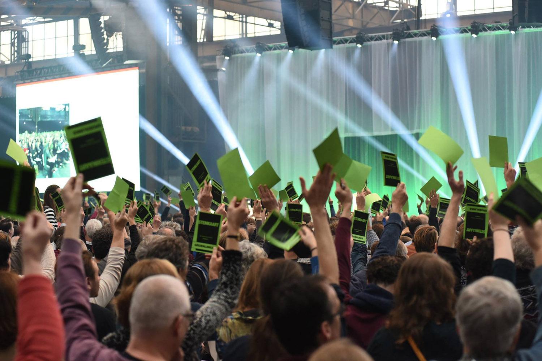 GroenLinks congres in de Werkspoorkathedraal (foto:GL)