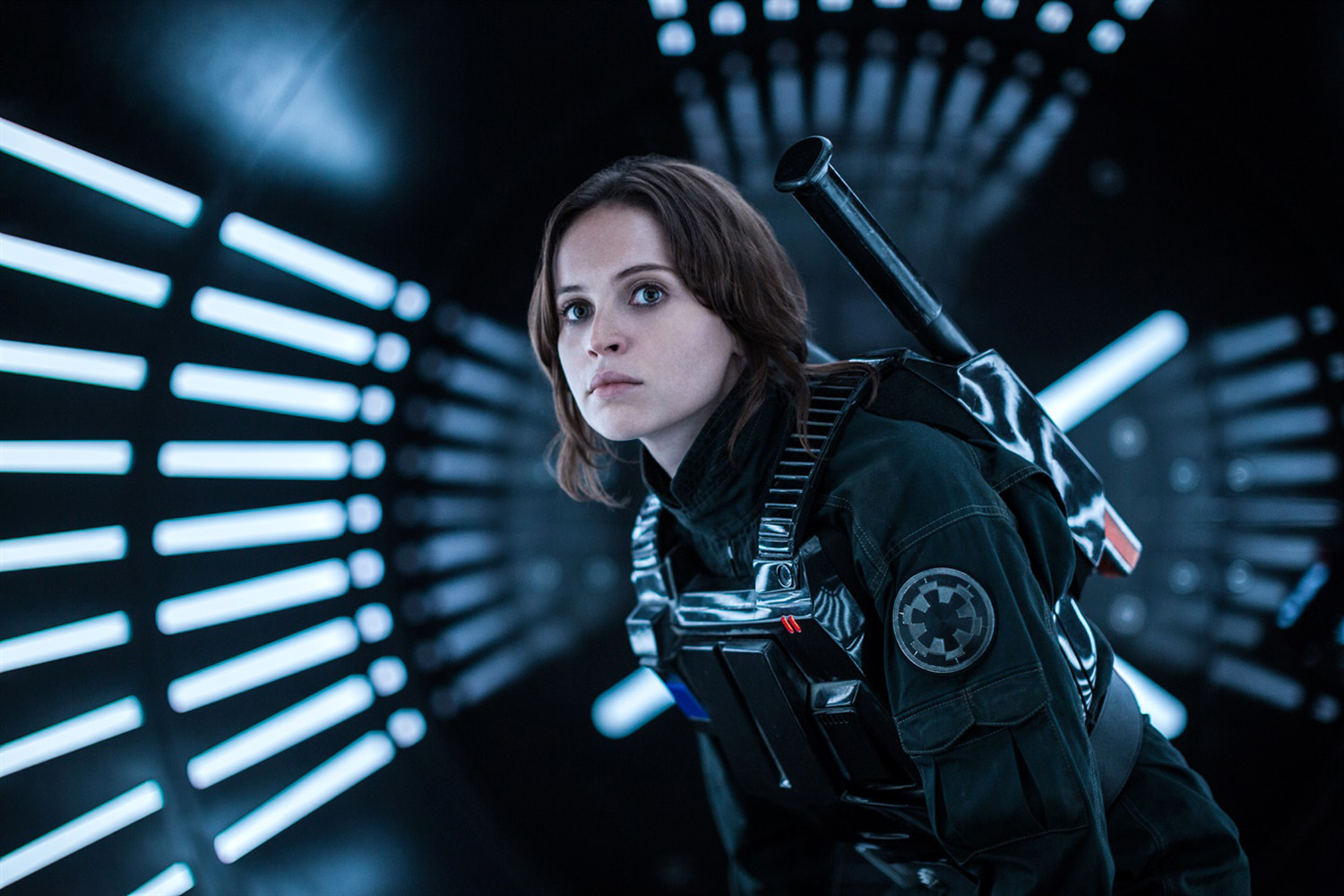 Felicity Jones als de harde Jyn Erso in Rogue One
