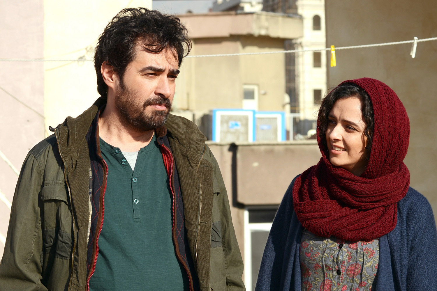 Shahab Hosseini en Taraneh Alidoosti in The Salesman