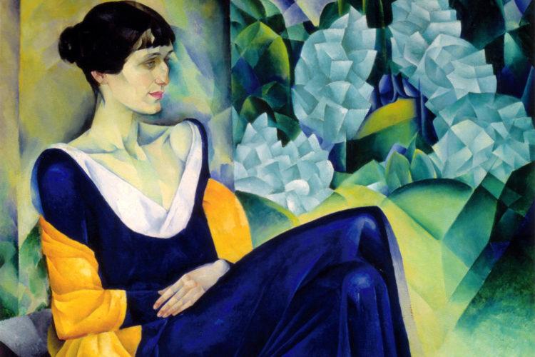 Jan Brokkens heldin Anna Achmatova, in 1914 geportretteerd door Nathan Altman