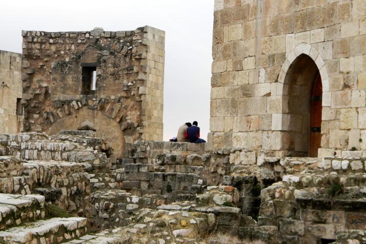 Stelletje in de oude citadel van Aleppo (foto:flickr/58380178@N06)