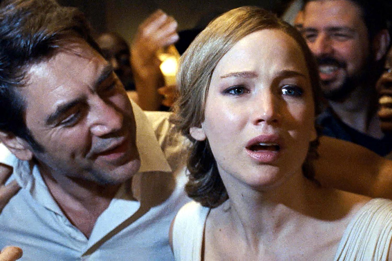 Javier Bardem en Jennifer Lawrence in Mother!