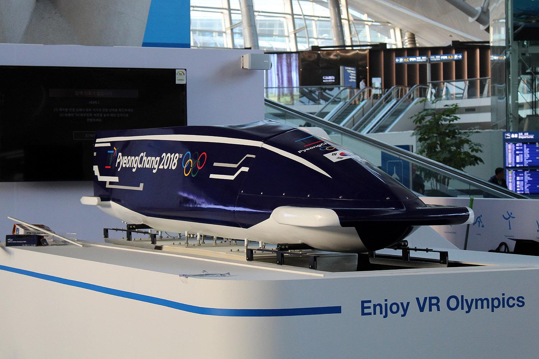Al op het vliegveld Incheon maken de Koreanen duidelijk dat de Olympische Spelen een technologische showcase voor hen zijn
