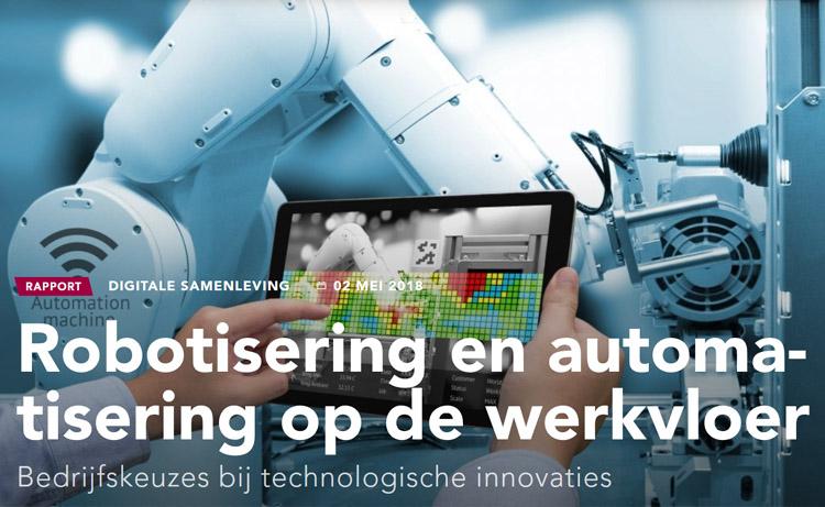 Robotisering en Automatisering op de Werkvloer is verschenen bij het Rathenau Instituut