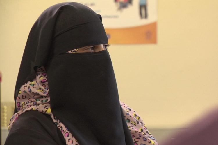Halleemah Patel, niqabstrijdster te Leicester (foto:flickr/fixersuk)