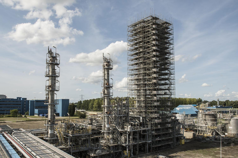 De PPE-toren van Sabic in Bergen op Zoom (foto:Sabic)