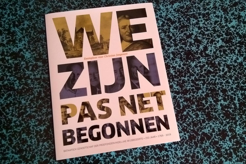 Jubileumboek Bataafsch Genootschap: We zijn pas net begonnen
