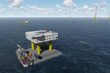Wooneenheid voor onderhoudspersoneel op zee (illustratie:Space@Sea)