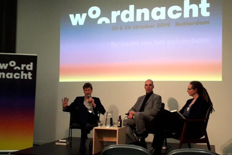 Met Alek Dabrowski en Bianca Boer tijdens Woordnacht (foto: Michelle van Dijk)