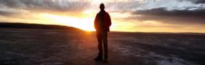 Zonsopgang in de Salar de Uyuni, Bolivia