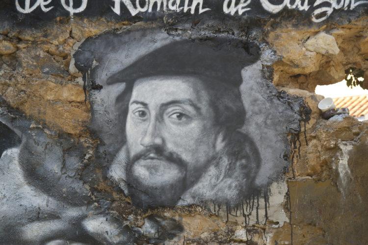 Muurschildering van Johannes Calvijn (foto:flickr/house_of_chaos)