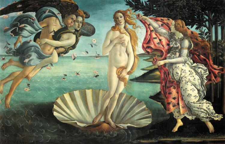 De geboorte van Venus door Sandro Botticelli