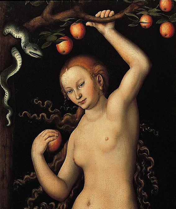 Eva door Lucas Cranach