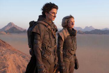 Timothée Chalamet en Rebecca Ferguson in Dune